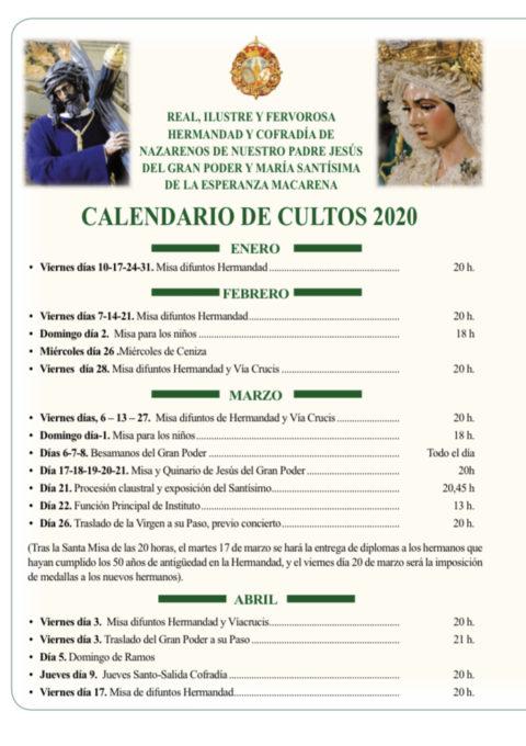 cultos 2020
